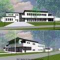 geplante Ansicht: Wirtschafts- und Betreuungsgebäude © 2007 Betrieb für Bau und Liegenschaften Mecklenburg-Vorpommern