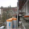während der Bauarbeiten Blick vom Gerüst zum Schloss © 2010 Betrieb für Bau und Liegenschaften Mecklenburg-Vorpommern