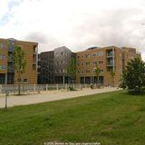Der 1. Bauabschnitt mit den Bettenhäusern der Neurologie/Neurochirurgie und der Augenklinik © 2010 Betrieb für Bau und Liegenschaften Mecklenburg-Vorpommern