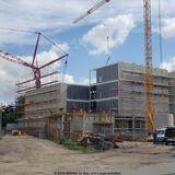 Der 6. Bettenturm entsteht südlich des 2. Bauabschnittes in Modulbauweise © 2010 Betrieb für Bau und Liegenschaften Mecklenburg-Vorpommern