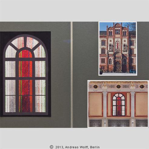 Die beste Idee hatte Andreas Wolff  Künstler aus Berlin. Matrikelnummern von 1419  dem Gründungsjahr der Universität Rostock  sind im äußeren Bereich angeordnet. © 2013 Betrieb für Bau und Liegenschaften Mecklenburg-Vorpommern