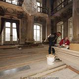 Gut vorbereitet: Steffi Dahl vom BBL M-V im Gespräch mit Peter J. Harke vom NDR. © 2014 Betrieb für Bau und Liegenschaften Mecklenburg-Vorpommern