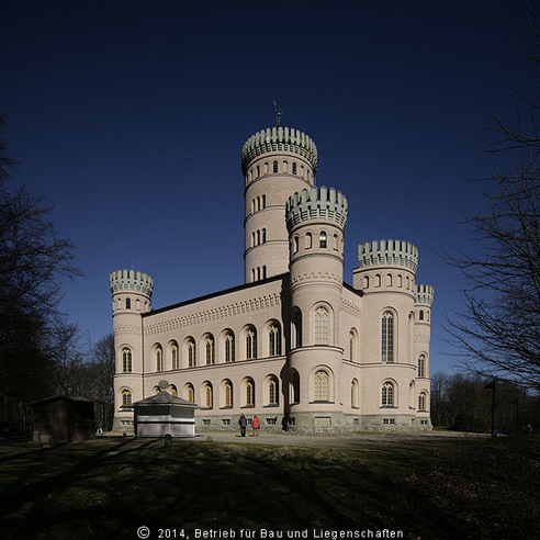 Jagdschloss Granitz  Baustellenbesuch für NDR-Sendung  Land und Leute  am 14.3.2014.jpg © 2014 Betrieb für Bau und Liegenschaften Mecklenburg-Vorpommern