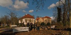 Baustellenbesuch für die NDR-Sendung Land und Leute am 3. April 2014. © 2014 Betrieb für Bau und Liegenschaften Mecklenburg-Vorpommern