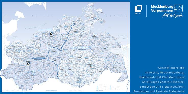 bbl-mv - Zuständigkeitskarte  Stand 24. Februar 2016 © 2014 Kartografie Kast  Schwerin