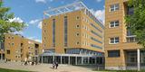 So wird sich der Haupteingang zum Klinikum nach Fertigstellung des Diagnostikzentrums zwischen 1. und 2. Bauabschnitt präsentieren. © HWP Planungsgesellschaft mbH Stuttgart