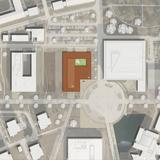 Lageplan Berthold-Beitz-Platz mit Einordnung des geplanten CFGM-Neubaus © 2013 MHB Planungs- und Ingenieurgesellschaft mbH  Rostock