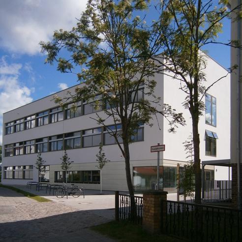 Ansicht von Südwesten  von der Loitzer Straße © 2015 Betrieb für Bau und Liegenschaften Mecklenburg-Vorpommern