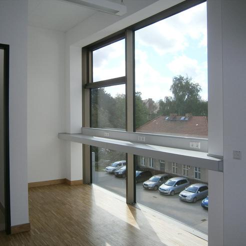 Kommunikationsflächen im Flurbereich des 2. Obergeschosses © 2015 Betrieb für Bau und Liegenschaften Mecklenburg-Vorpommern