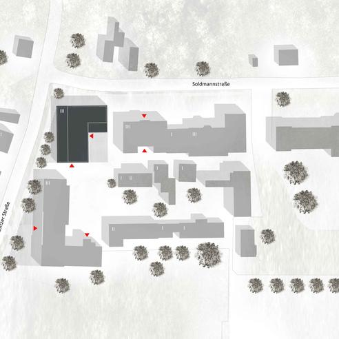 Lageplan des Campus Soldmannstraße © 2012 kister scheithauer gross Architekten und Stadtplaner GmbH  Leipzig