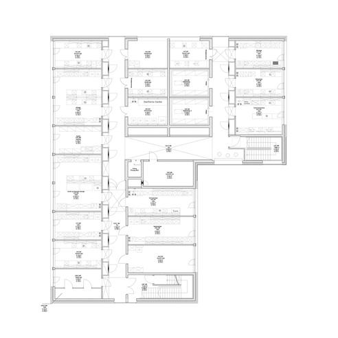 Grundriss 2. Obergeschoss © 2012 kister scheithauer gross Architekten und Stadtplaner GmbH  Leipzig