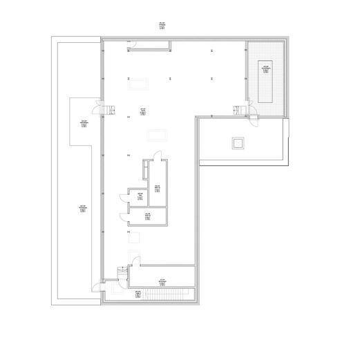 Grundriss Technikgeschoss auf dem Dach © 2012 kister scheithauer gross Architekten und Stadtplaner GmbH  Leipzig