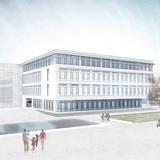 Blick auf den Neubau © 2015 Haid +Partner Architekten +Ingenieure Generalplaner