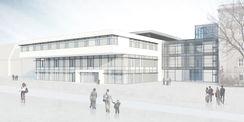 Das derzeit größte Bauprojekt der Staatlichen Bau- und Liegenschaftsverwaltung für das Land M-V. Visualisierung mit Stand vom Juni 2015. © © 2015 Haid +Partner Architekten +Ingenieure Generalplaner  Nürnberg