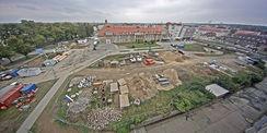 Blick auf das Baufeld auf dem Campus der Universitätsmedizin Rostock in der Schillingallee am 11. September 2015. © 2015 Betrieb für Bau und Liegenschaften Mecklenburg-Vorpommern