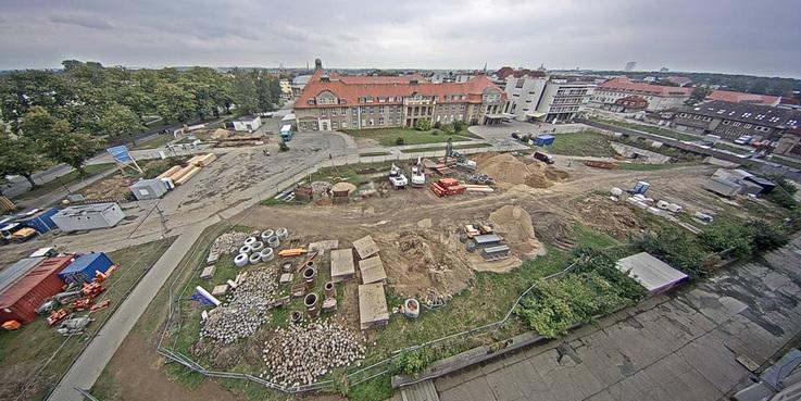 Blick auf das Baufeld am 11. September 2015. © 2015 Betrieb für Bau und Liegenschaften Mecklenburg-Vorpommern