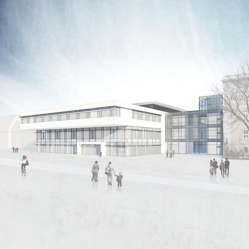 So soll der Neubau 2019 aussehen - Blick aus der Schillingallee © Haid +Partner Architekten +Ingenieure Generalplaner  Nürnberg