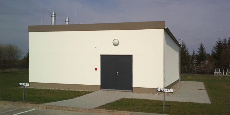 Energieversorgungszentrale mit Blockheizkraftwerk (BHKW)  Grundlastkessel und  Gaswandheizkesselkaskade zur Spitzenlastabdeckung des Wärmebedarfes der Polizeiliegenschaft Rostock-Waldeck. © 2016 Betrieb für Bau und Liegenschaften Mecklenburg-Vorpommern