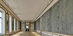 Blick in die frisch restaurierte Gemäldegalerie  etwa ein halbes Jahr vor der Übergabe an den Nutzer des Schlosses  das Staatliche Museum Schwerin. © 2015 Fotodesign Klose