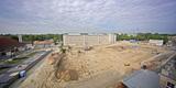 Blick vom Perioperativen Zentrum auf das Baufeld. Stand: 30. Mai 2016 © 2016 Betrieb für Bau und Liegenschaften Mecklenburg-Vorpommern