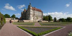 Schloss und Schlossgarten Güstrow - prachtvolle Fassade wird in den kommenden Jahren saniert. © 2017 Betrieb für Bau und Liegenschaften Mecklenburg-Vorpommern