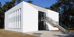 Gebäudeansicht mit Fluchttreppe © 2016 Betrieb für Bau und Liegenschaften Mecklenburg-Vorpommern