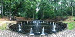 Die 24 Mönche gehören zu den Wasserspielen entlang des Großen Kanals im Schlosspark. © 2018 Betrieb für Bau und Liegenschaften Mecklenburg-Vorpommern
