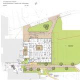 Entwurf zur Gestaltung der Außenanlagen © 2013 Olaf Petters Landschaftsarchitekturbüro  Stralsund