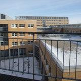 Blick vom 2. Bauabschnitt des Klinikums auf das DZ 7 © 2012 Betrieb für Bau und Liegenschaften Mecklenburg-Vorpommern