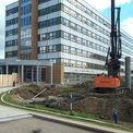 Das 1980 erbaute alte DZ 8 vor dem Abbruch - ursprünglich sollte es saniert werden © 2000 HWP Planungsgesellschaft mbH Stuttgart