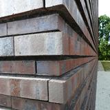 aus 57.000 Stück strukturierte rote bis dunkelrote Klinkerfassade © 2017 Betrieb für Bau und Liegenschaften Mecklenburg-Vorpommern