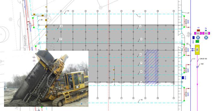 Lageplan der Drainagen © 2017 Ingenieurbüro GERRY WEHRLE  Güstrow