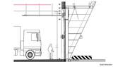 Schnitt durch ein Tor für die Einsatzfahrzeuge © 2017 struhk architekten  Braunschweig