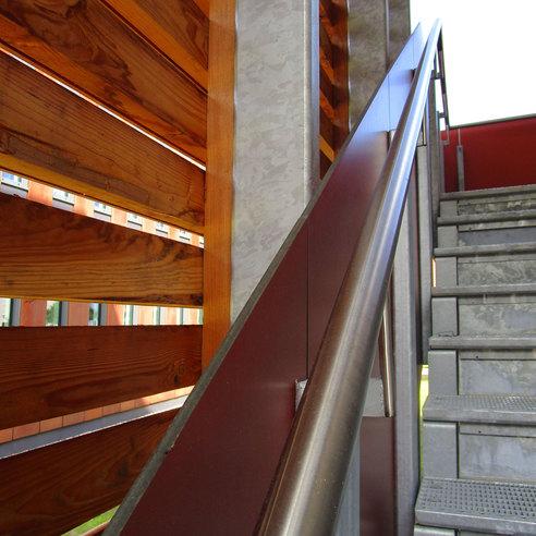 Detail Außentreppe am Westgiebel © 2017 Betrieb für Bau und Liegenschaften Mecklenburg-Vorpommern
