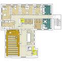 Grundriss 2. Obergeschoss mit neuem Raumkonzept © 2017 Betrieb für Bau und Liegenschaften Mecklenburg-Vorpommern