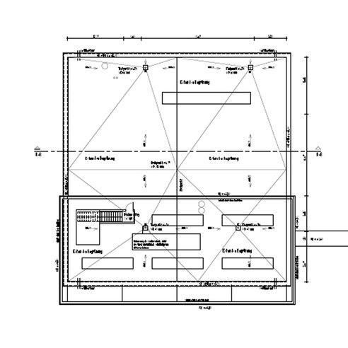 Rechnergebäude - Grundriss Dachgeschoss  - hier werden  Rückkühlwerke im südlichen Bereich angeordnet © 2015 HWP Planungsgesellschaft mbH  Stuttgart