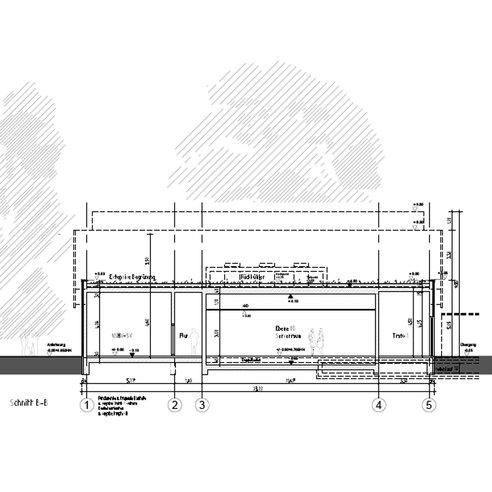 Rechnergebäude - Schnitt B-B © 2015 HWP Planungsgesellschaft mbH  Stuttgart