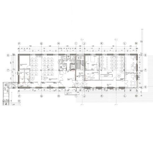 Seminar-/Verwaltungsgebäude - Grundriss Erdgeschoss © 2017 HWP Planungsgesellschaft mbH  Stuttgart