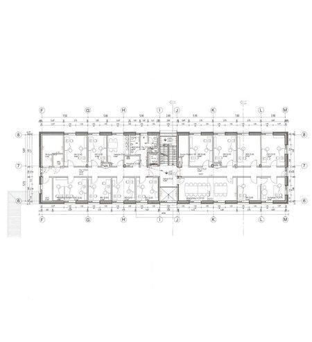 Seminar-/Verwaltungsgebäude - Grundriss 1. Obergeschoss © 2017 HWP Planungsgesellschaft mbH  Stuttgart