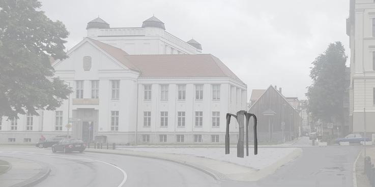 Visualisierung Wettbewerbsbeitrag: Ansicht Ost © 2017 Julia Hansen  Schwerin