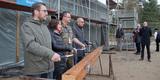 von links: Alexander Schwebs (BAIUD)  Silke Jänike (BBL M-V)  Oberstleutnant Frank Fischer (Technische Gruppe) und Jörg Hoyer (BWDLZ). © 2017 Betrieb für Bau und Liegenschaften Mecklenburg-Vorpommern