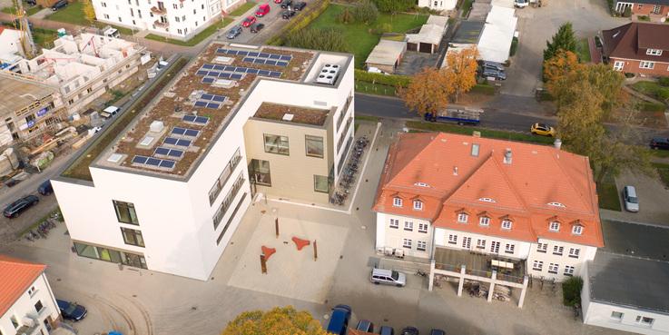 Blick auf den Camous - Luftbild vom 17. Oktober 2017. © 2017 Betrieb für Bau und Liegenschaften Mecklenburg-Vorpommern