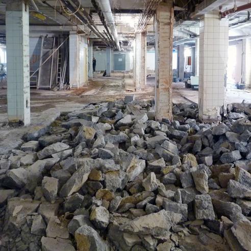 Während des Umbaus der Zentralen Sterilgutversorgungsanlage. © BL + JLS Planungsgemeinschaft  Schwerin