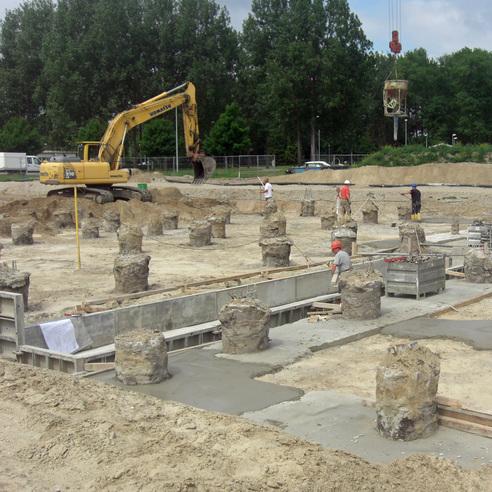 Blick auf die Baustelle. © 2018 Betrieb für Bau und Liegenschaften Mecklenburg-Vorpommern