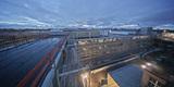 Blick vom Perioperativen Zentrum  das der BBL M-V bereits 2005 fertigstellte  auf den Baukörper ZMF im Januar 2018. © 2018 Betrieb für Bau und Liegenschaften Mecklenburg-Vorpommern