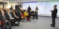 Das Fernsehteam des NDR begleitete die feierliche Übergabe. © 2018 Betrieb für Bau und Liegenschaften Mecklenburg-Vorpommern