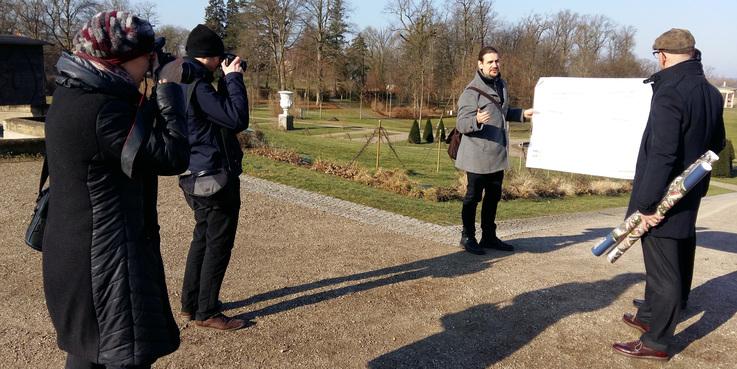 Rasenparterre im Schlossgarten Neustrelitz wird saniert © 2018 Betrieb für Bau und Liegenschaften Mecklenburg-Vorpommern