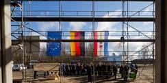 Flagge zeigen. Der BBL M-V setzt bauliche Investitionen und Förderungen von EU  Bund  und Land M-V: um. © 2018 Betrieb für Bau und Liegenschaften Mecklenburg-Vorpommern
