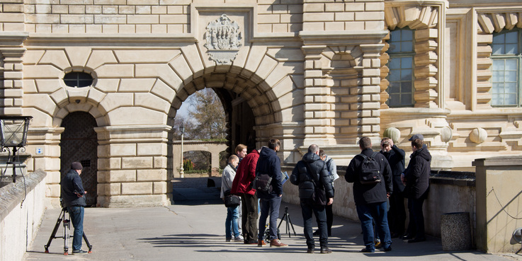 Auf der Brücke vom Torhaus zum Schloss. © 2018 Betrieb für Bau und Liegenschaften Mecklenburg-Vorpommern