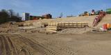Blick auf die Baustelle am 19. April 2018 - der Grundstein wird am 16. Mai 2018 gelegt. © 2018 Betrieb für Bau und Liegenschaften Mecklenburg-Vorpommern